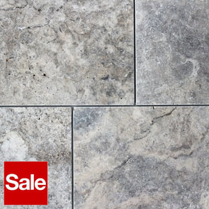 Silver Travertine Tiles 610x406x12mm
